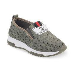 Kids Green Slip On Shoes