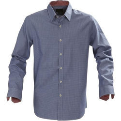 Formal Wear Collar Neck Mens Small Checks Shirt