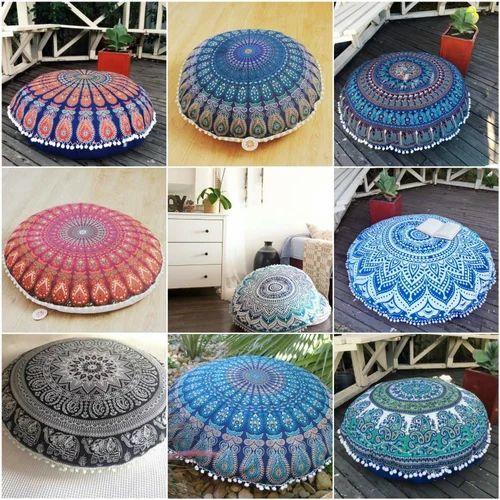 Mandala Floor Pillows Round Cushion Meditation Throw Pillow ...
