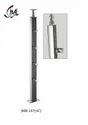 Designer Stainless Steel with Wooden Pillar (Baluster)