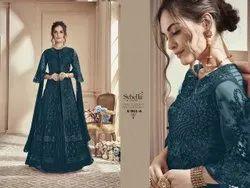 Latest Festive Wear Embroidered Salwar Suit