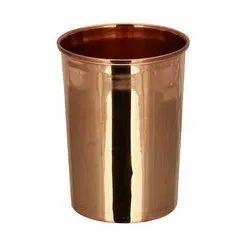 Cylindrical Plain Copper Glass, Capacity: 370 Ml