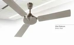 Vital Platinum Brass Steel Ceiling Fan
