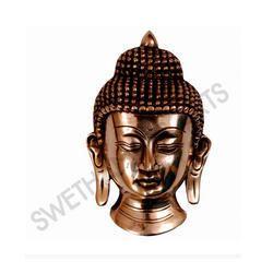 Brass Buddha Face Statue