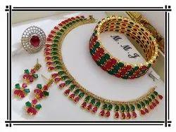 Ruby Stone Necklace Set