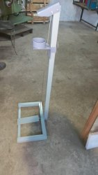 Sanetizer stand foot operated