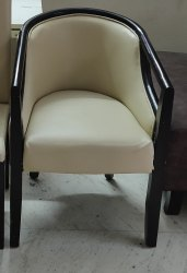 Modern Black and White Wooden Restaurant Chairs, SKE 503