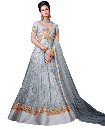 Net Top Party Wear Women\'s Attractive Gown Style Anarkali Suits 2018 ...