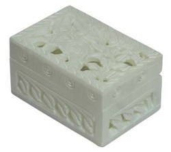 Soapstone Carved Box