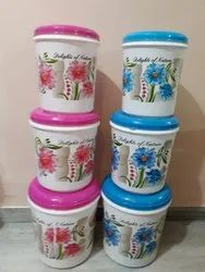 White Plastic Container for Food Storage