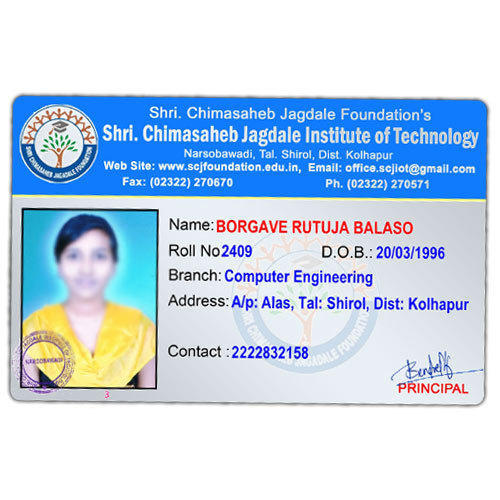 Multicolor Creations Id 6 Rajiv piece Id College Rs Plastic 15455313397 Cards