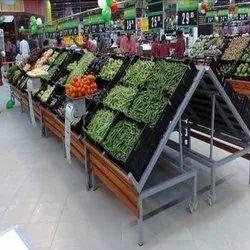 Steel Supermarket Vegetable Rack