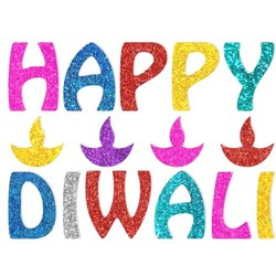 Osiyankart Happy Diwali Glitter Sticker
