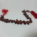 Natural Mozambique Red Garnet Pears Shaped Faceted Beads