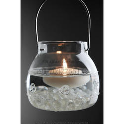 Round Gabi Glass Hanging Candle Holder, For Decoration