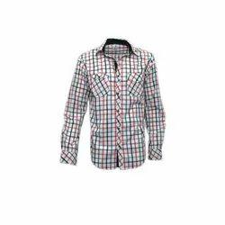 Darium Cotton Mens Check Party Wear Shirt