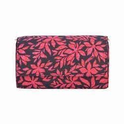 Azzra Red Indigo Fabric Clutch