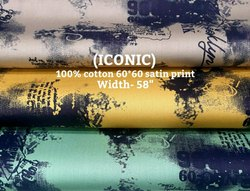 Iconic 100% Cotton Satin Print Fabric