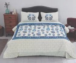 Floral Printed Bedsheet for Double Bed