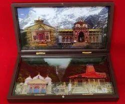 Plastick & Glass Brown charan paduka Chardham Gift Combo Set