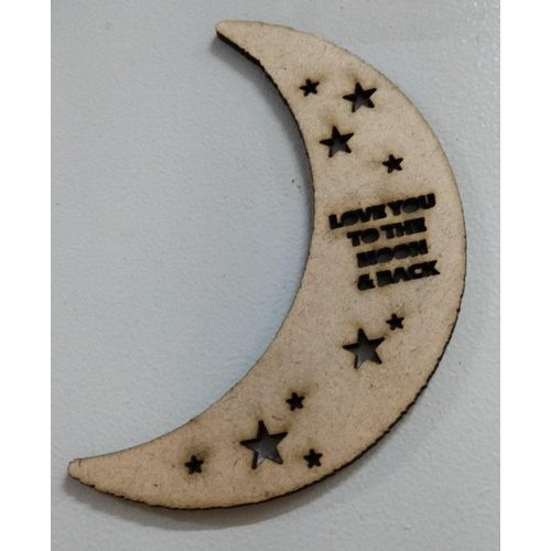 Mdf Moon Wall Decor Size 6 To 4 Feet