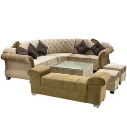 8 Seater Office L Shape Sofa Set