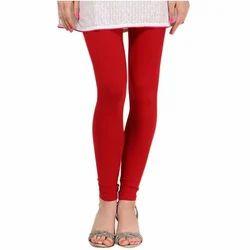 Plain Red Churidar Leggings