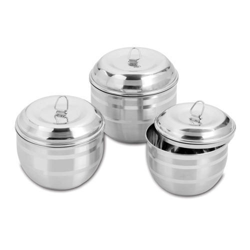 Stainless Steel Food Multi Storage Box Set, Capacity: 5 Liter