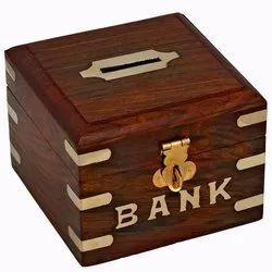 Wood Money Box, Size/Dimension: 4 X 4 Inch
