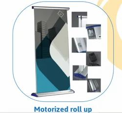 Luxurious Motorized Scrolling Roll up Standee