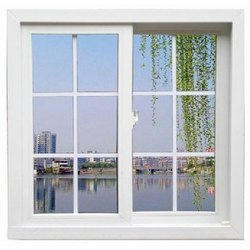 White UPVC Grill Sliding Windows for Residential & Commercial