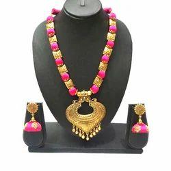 Pink Artificial Necklace Set
