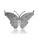 Yellow Gold Plated Baguette Diamonds Butterfly Pendant