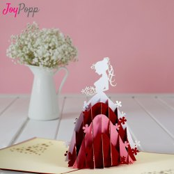 Lady In Dress Beautiful Greeting Card