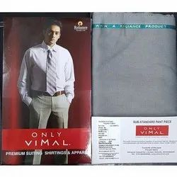 1.20 Meter Reliance Vimal Woven Suiting Trouser Fabric