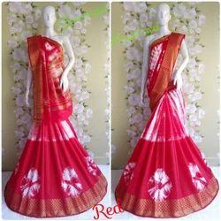 Cotton Silk Red Saree