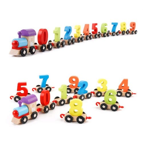 Magnetic Number Train Learning Educational Toy
