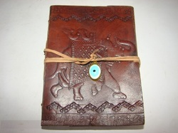 Elephant Designer Embossed Leather Journal