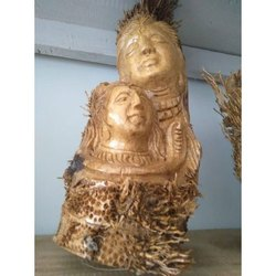 Brown Bamboo wall hanging God picture, Size: 12inch X 16inch