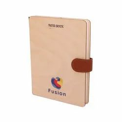 Hard Bound White Beautiful Wooden Cover Note Book, Paper Size: A4