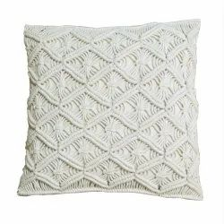 Trendy Natural Cotton Macrame Cushion Cover