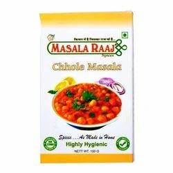 Raaj 100 g Chhole Masala, Packaging: Box