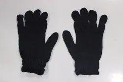 全手指蓝色印度制作针织35克手手套