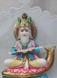 White Marble Jhulelal Statue