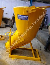 Hindustan Enterprises Column Filling Tower Crane Banana Concrete Bucket with Detachable Chute