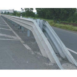 Three Beam Double Sided Metal Crash Barrier