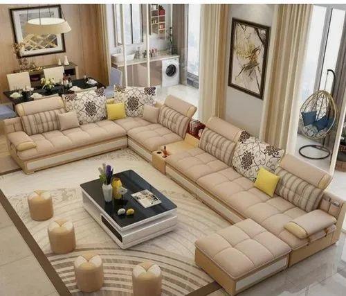 Modern Fabric Designer Living Room Sofa, Living Room Sofa Set Designs