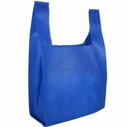 Non Woven Blue U Cut Shopping Bag