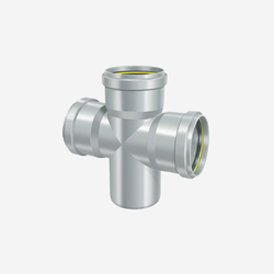 Upvc SWR Cross Tee, Size: 1/4 Inch-1 Inch, For Soil