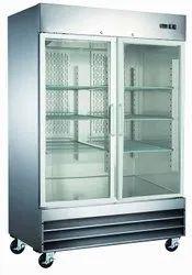 Double Door Glass Refrigerator
